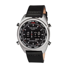 Load image into Gallery viewer, Time Engine Drum Watch - Chrome Case with Black Strap