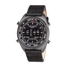 Load image into Gallery viewer, Time Engine Drum Watch - Black IP Case with Black Strap