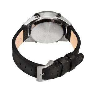 Time Engine Drum Watch - Chrome Case with Black Strap