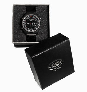 Time Engine Drum Watch - Black Case with Black Strap