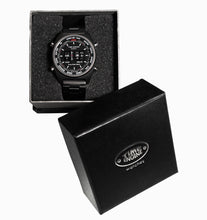 Load image into Gallery viewer, Time Engine Drum Watch - Chrome Case with Black & Grey Rubber Band