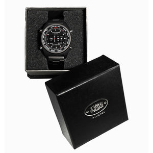 Time Engine Drum Watch - Stainless Steel Case with Black Rubber Band