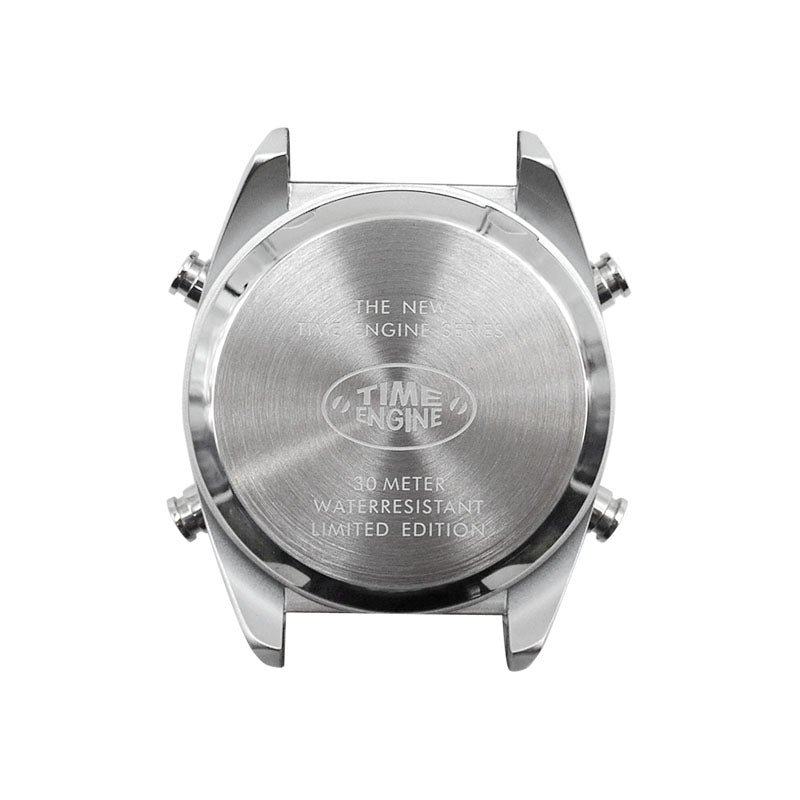 Time Engine Drum Watch - Chrome Case with Chrome Steel Band