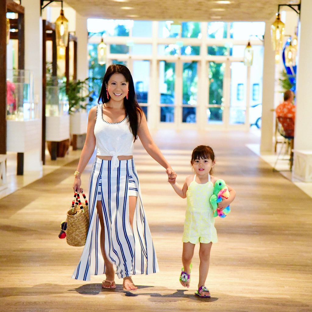 Mother and daughter, Miami lifestyle, safe sunscreen for toddlers and small kids