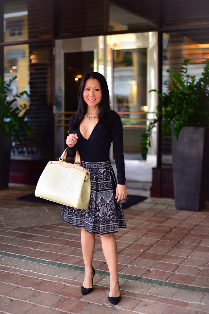 Asian model, Fashion tips, lace skirt, mom style