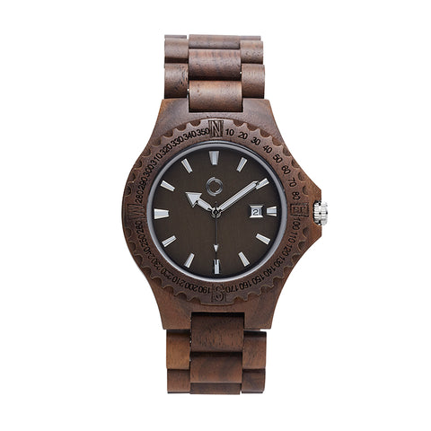 Wooden Watch Amsterdam Walnut
