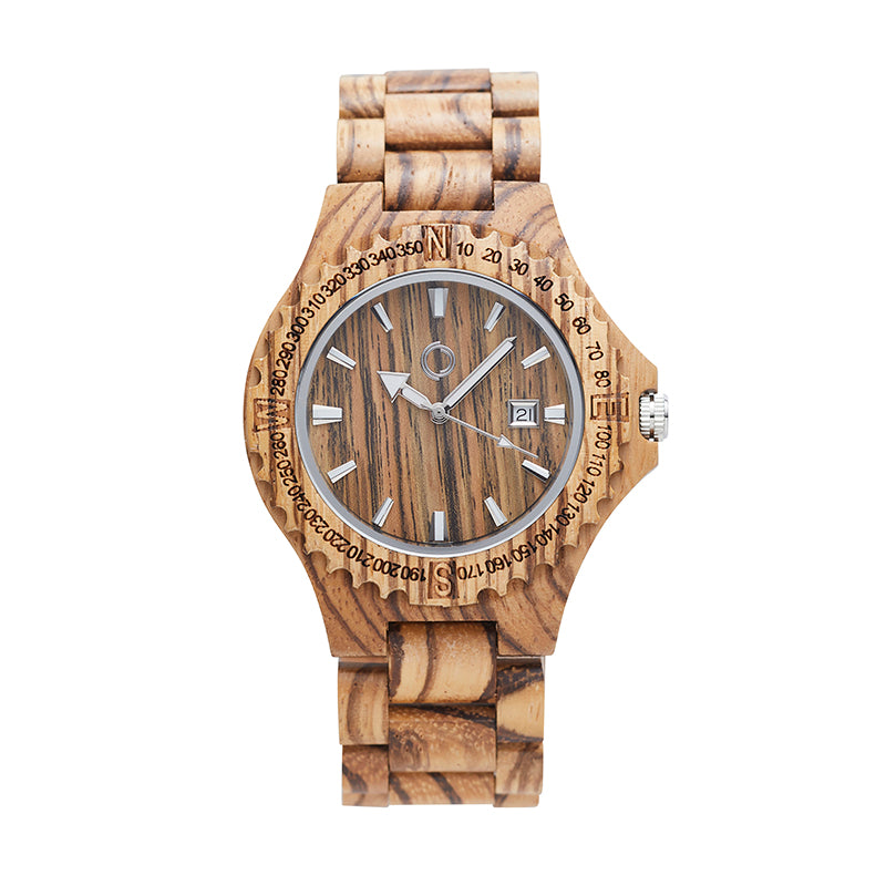 Wooden Watch Amsterdam Zebrano - Other Circles