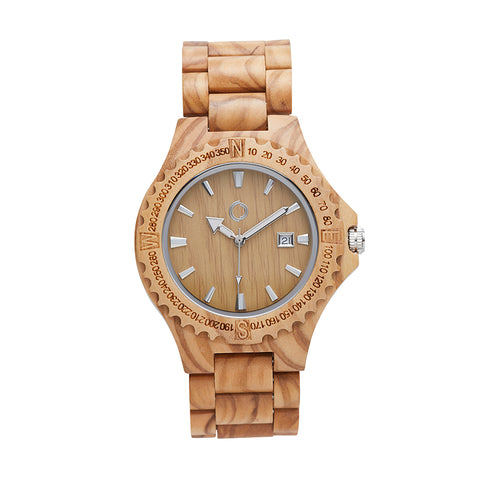 Wooden Watch Amsterdam Olive