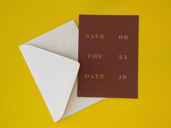Foil Stamped Foil Printed Save the Date