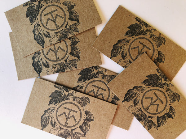 Thou Mayest Letterpress Printed Business Cards