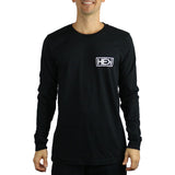 MEN'S BOX LOGO LONG-SLEEVE TEE IN BLACK