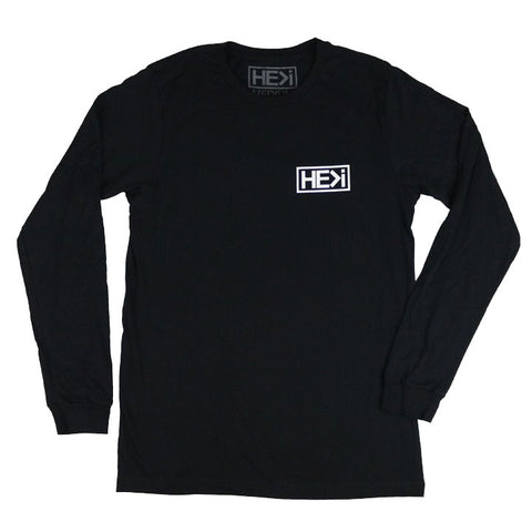 MEN'S GRADIENT LOGO TEE IN BLACK