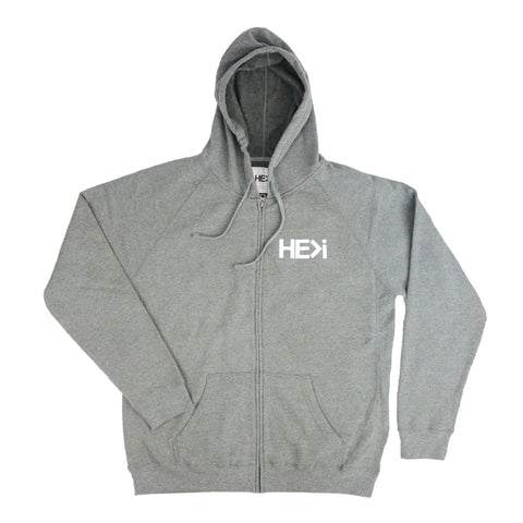 330 PULLOVER HOODIE IN GUNMETAL HEATHER/BLACK
