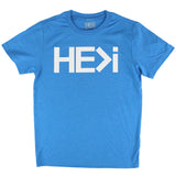KID'S LOGO TEE IN HEATHER TURQUOISE