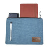 CLUTCH BAG IN BLUE DENIM
