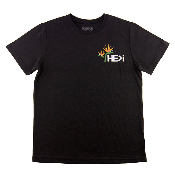 KID'S BIRD OF PARADISE TEE IN BLACK