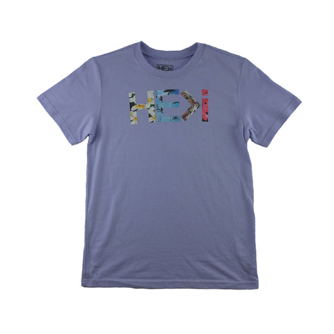KID'S BIRD OF PARADISE TEE IN LIGHT BLUE