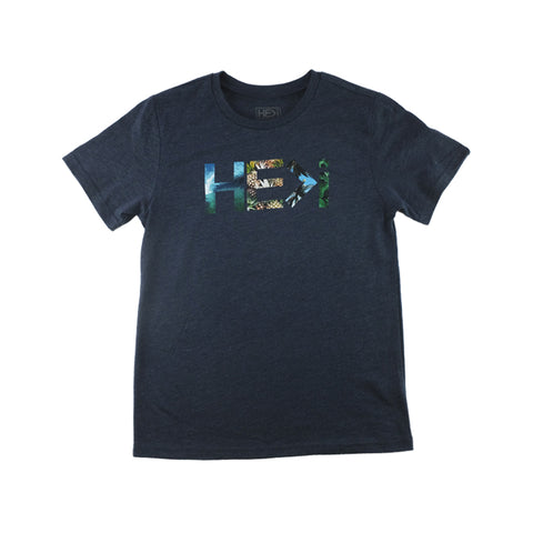 KID'S KA'ENA TEE IN HEATHER WINE
