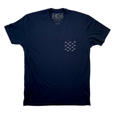 MEN'S POINT TEE IN INDIGO