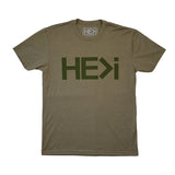 MEN'S LOGO TEE IN MILITARY GREEN
