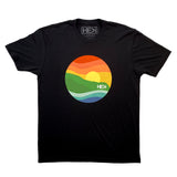 MEN'S POINT TEE IN BLACK