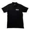 MEN'S POLO TEE IN BLACK