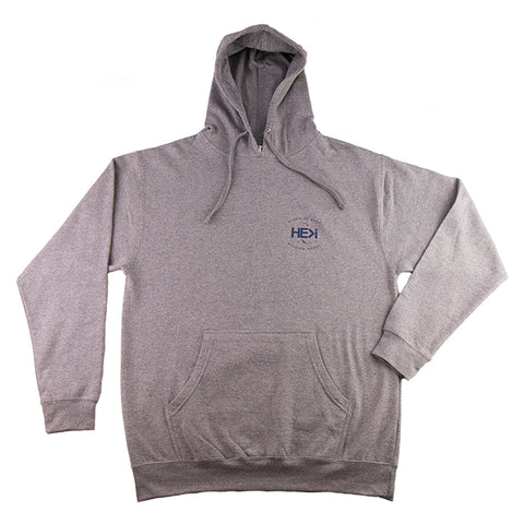 BANNER CREW SWEATSHIRT IN NICKEL