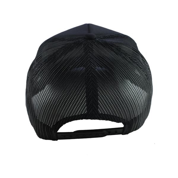 CURVED BRIM HOMETOWN TRUCKER HAT IN BLACK