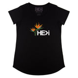 WOMEN'S BIRD OF PARADISE TEE IN BLACK