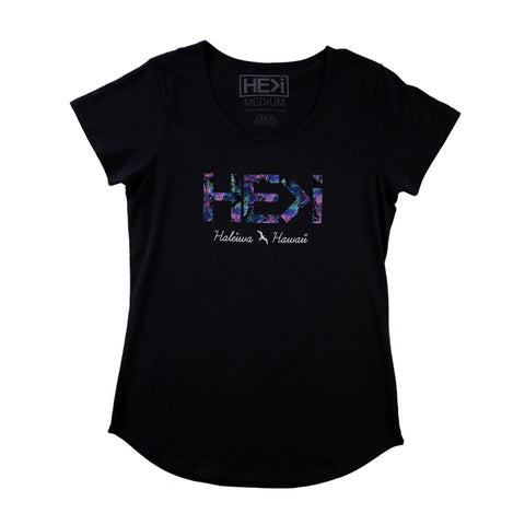WOMEN'S HIBISCUS TANK IN VINTAGE BLACK