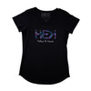 WOMEN'S HOMETOWN TEE IN BLACK