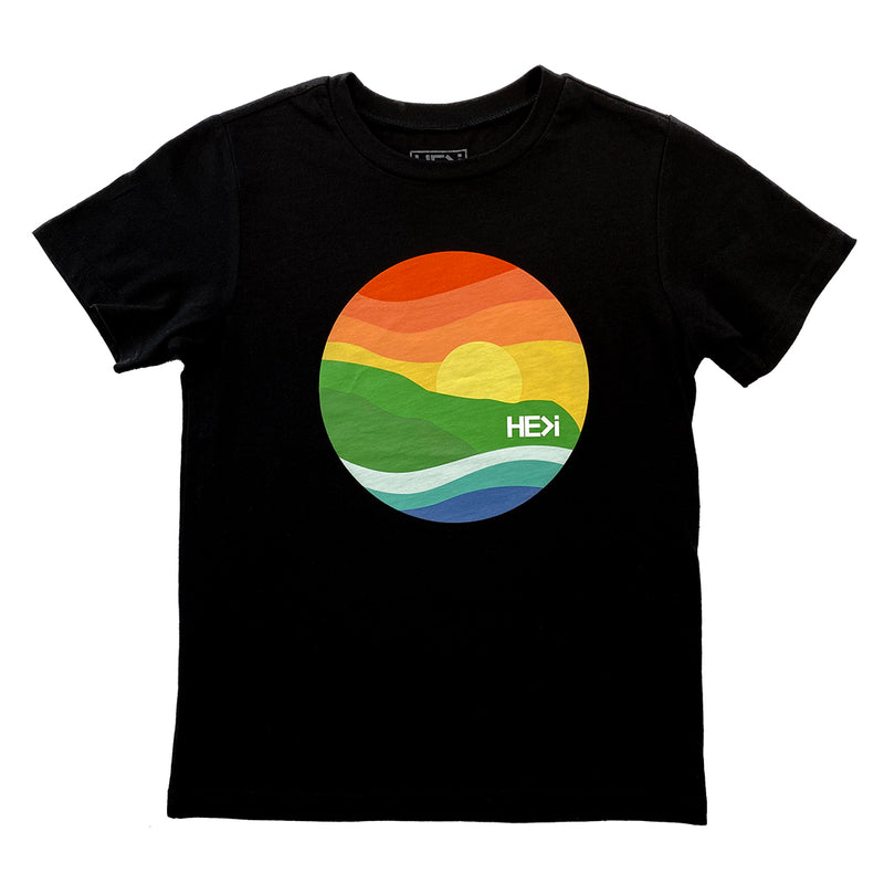 KID'S POINT TEE IN BLACK