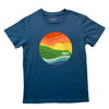 KID'S POINT TEE IN STEEL BLUE