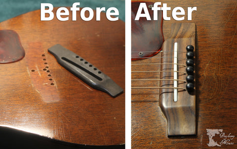 Guitar Bridge Replacement at Bayberry Music