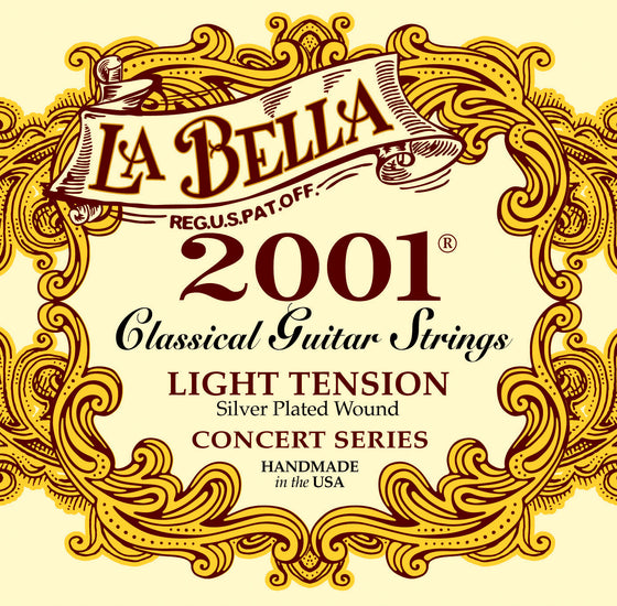 2001LIGHT LaBella Classical Guitar Strings - Silver Wound Basses