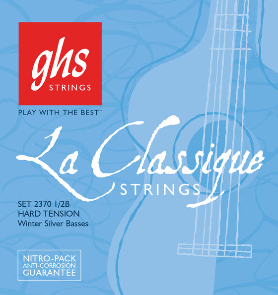 2370 1/2B  GHS LaClassique Classical Guitar Winter Silver Basses Only - High Tension
