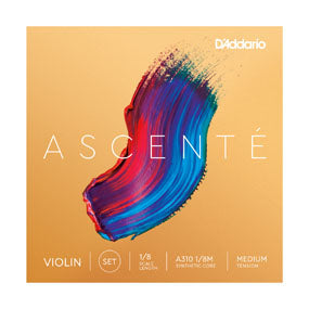 A310 D'addario Ascente Violin String Set - 1/8 Medium