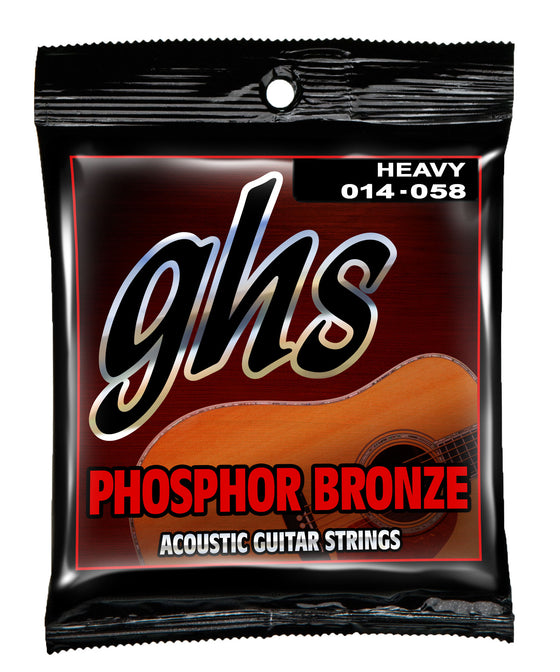 340 GHS Phosphor Bronze Acoustic Guitar String Set - Heavy 14-58