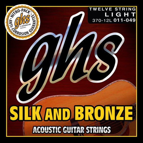 370-12L GHS Silk and Bronze Acoustic Guitar 12 String Set - 11-49