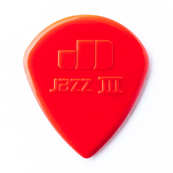 47P3N Dunlop Red Nylon Jazz III Picks - 6 Pack