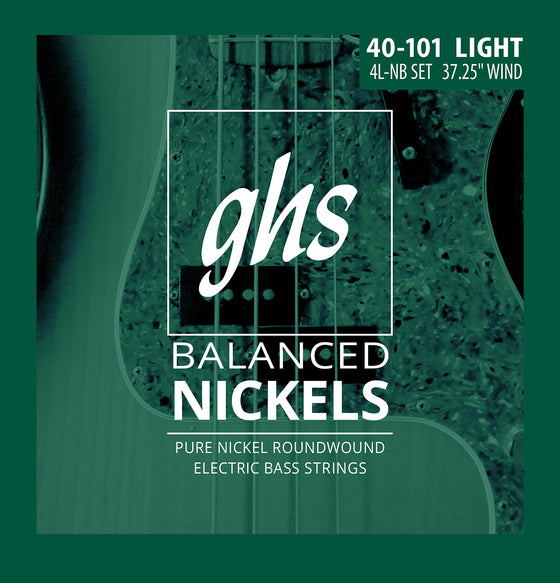 4L-NB GHS Balanced Nickels Bass Guitar String Set - Light 40-101