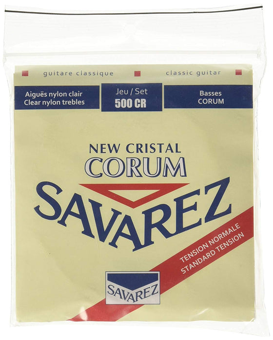 500CR Savarez Classical Guitar Strings Normal Tension - Cristal Trebles / Corum Basses