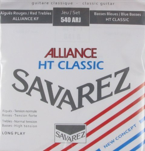 540ARJ Savarez Mixed Classical Guitar String Set - Alliance Trebles / Classic Basses