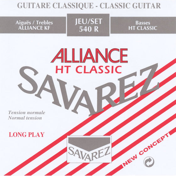 540R Savarez Alliance Classical Guitar String Set - Normal Tension