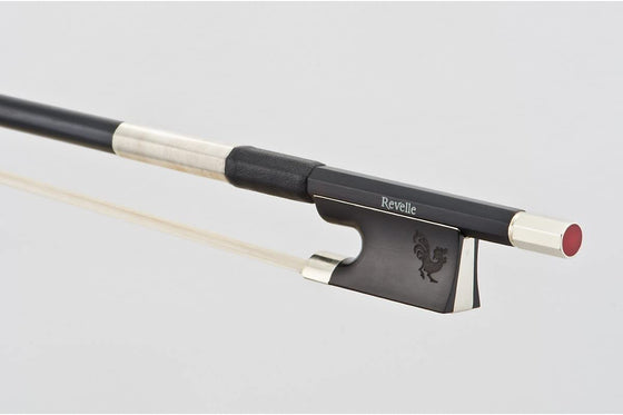 Revelle Raven Violin Bow 4/4 - Compositve Stick with Composite Hair
