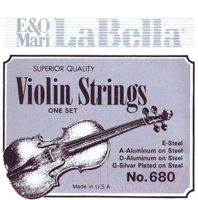 680-4/4 LaBella Orchestral Silver Plated Round Wound Violin String Set