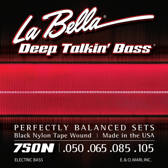 750N LaBella Deep Talkin Bass Black Nylon Tape - 50-105