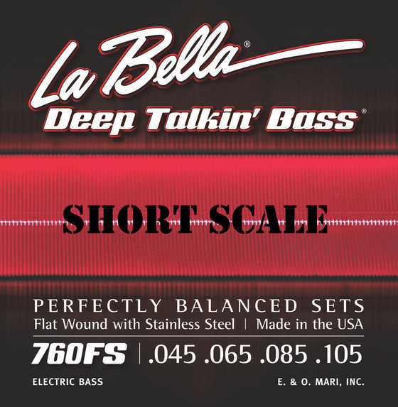 760FS-S LaBella Deep Talkin Bass Flat Wound - Standard 45-105 - SHORT SCALE