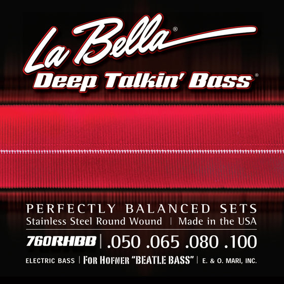 760RHBB LaBella Deep Talkin Beatle Bass Stainless Steel Round Wound - 50-100