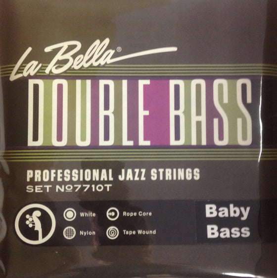 7710T-BB LaBella White Nylon Tape Wound for Baby Bass